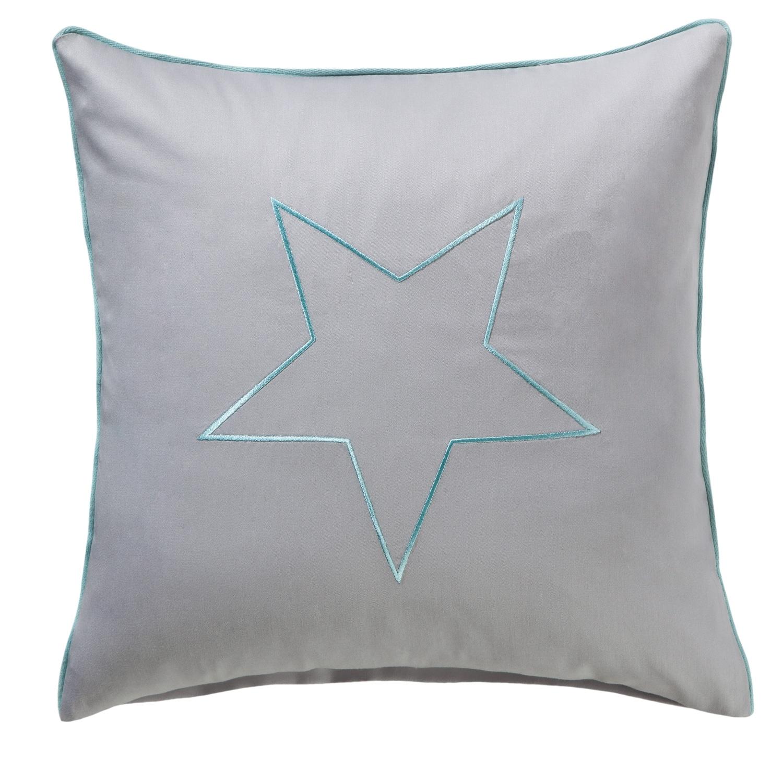 Kissenbezug mit Paspel und Stern
