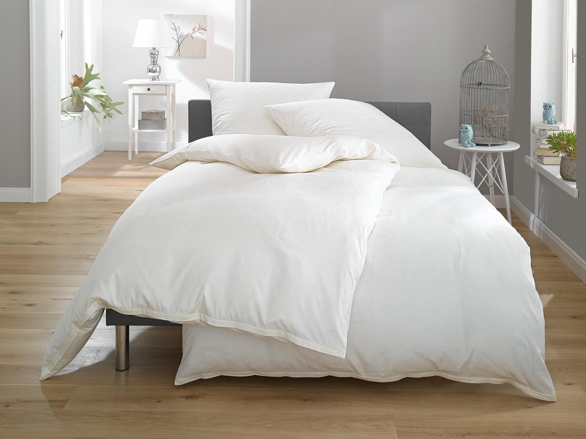 Streifen Bettwäsche Toscana Weiß Bettwaesche Mit Stil